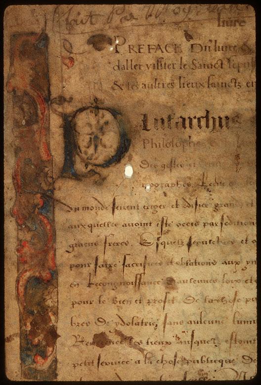 Journal de pélerinage au Saint-Sépulcre - Initiale et bandeau ornés_0