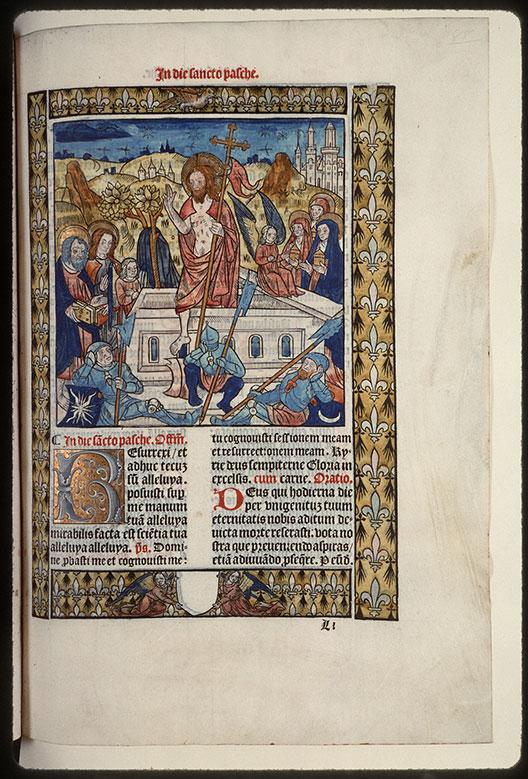 Missel - Résurrection du Christ et saintes Femmes au tombeau_0