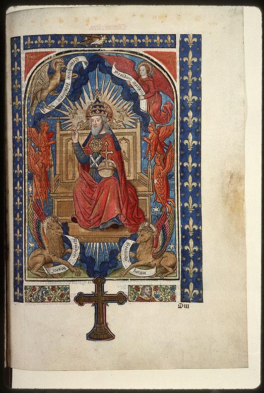 Missel - Dieu en majesté entouré du Tétramorphe_0