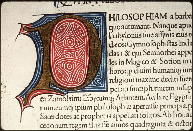 Vita et moribus philosophorum (De) - Initiale champie_0