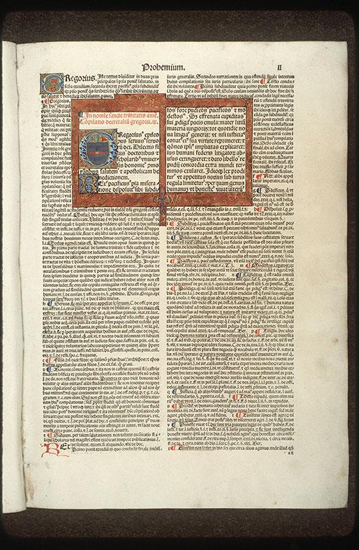 Decretales - Page décorée, avec armes (à identifier)_0