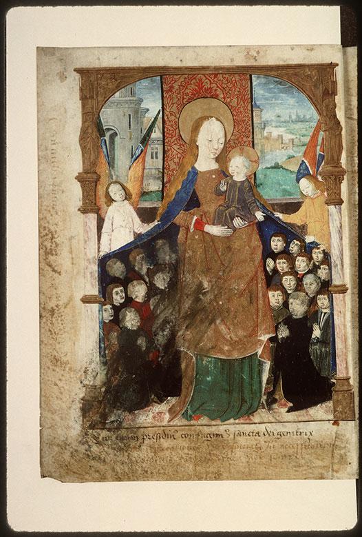 Registre des maîtres de la confrérie Notre-Dame du Puy d'Amiens - Vierge de miséricorde_0
