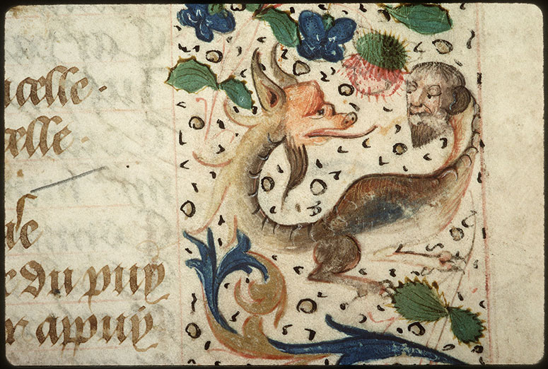 Registre des maîtres de la confrérie Notre-Dame du Puy d'Amiens - Page décorée_0