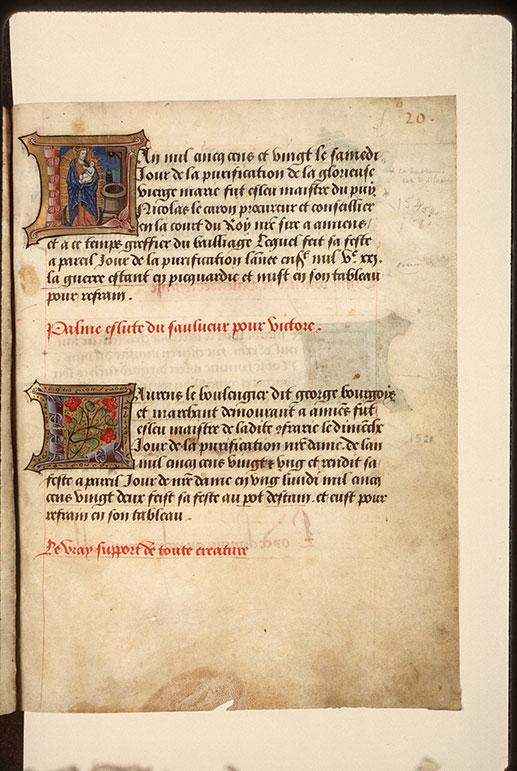 Registre des maîtres de la confrérie Notre-Dame du Puy d'Amiens - Fleurs_0