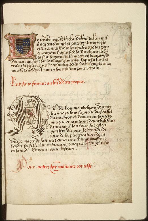 Registre des maîtres de la confrérie Notre-Dame du Puy d'Amiens - Tête d'homme_0