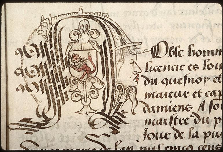 Registre des maîtres de la confrérie Notre-Dame du Puy d'Amiens - Armes de Philippe de Conti_0