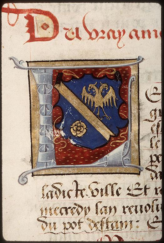 Registre des maîtres de la confrérie Notre-Dame du Puy d'Amiens - Armes de Charles le Clerc_0