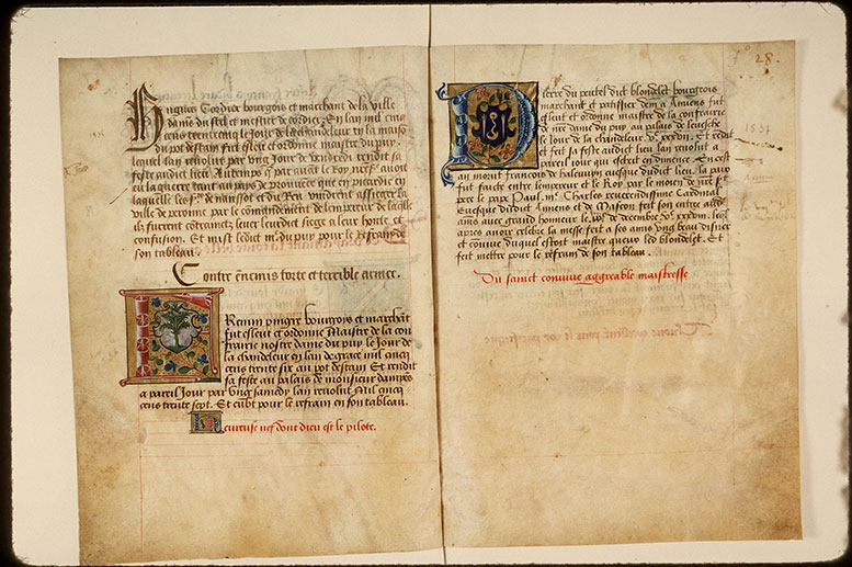 Registre des maîtres de la confrérie Notre-Dame du Puy d'Amiens - Armes de Pierre du Peutel_0