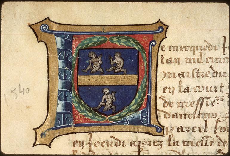 Registre des maîtres de la confrérie Notre-Dame du Puy d'Amiens - Armes de Jean Lengles_0