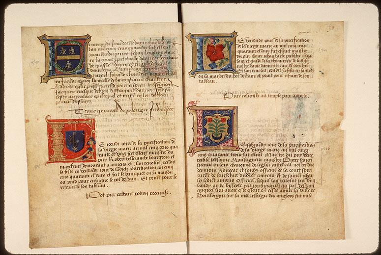 Registre des maîtres de la confrérie Notre-Dame du Puy d'Amiens - Chiffre de Robert Bellejambe_0
