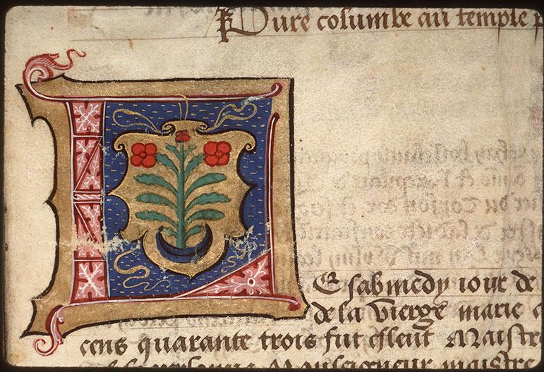 Registre des maîtres de la confrérie Notre-Dame du Puy d'Amiens - Armes de Pierre Faverin_0