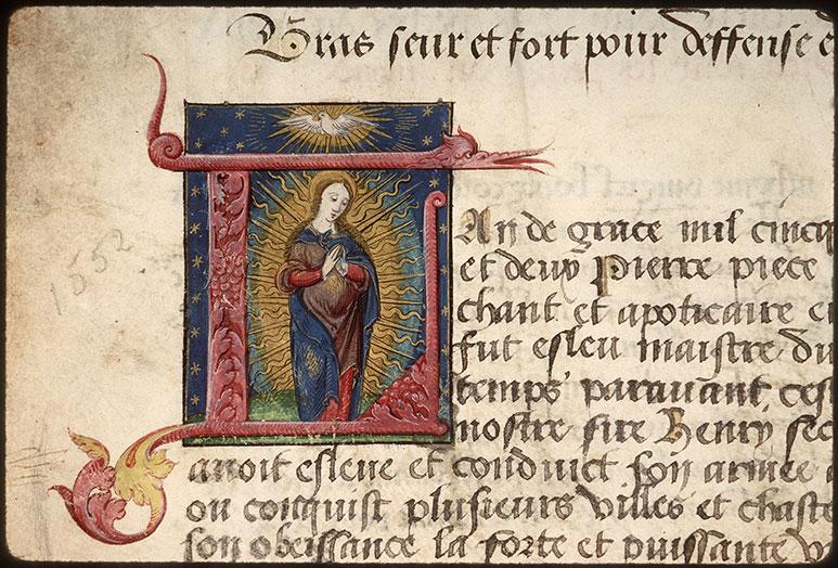 Registre des maîtres de la confrérie Notre-Dame du Puy d'Amiens - Vierge en prière_0