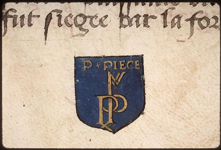 Registre des maîtres de la confrérie Notre-Dame du Puy d'Amiens - Chiffre de Pierre Pièce_0