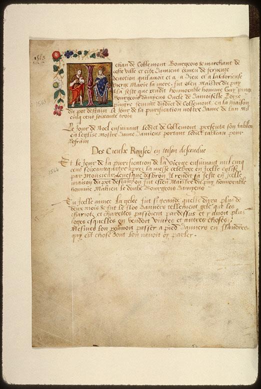 Registre des maîtres de la confrérie Notre-Dame du Puy d'Amiens - Saint Jean-Baptiste et saint Charlemagne_0