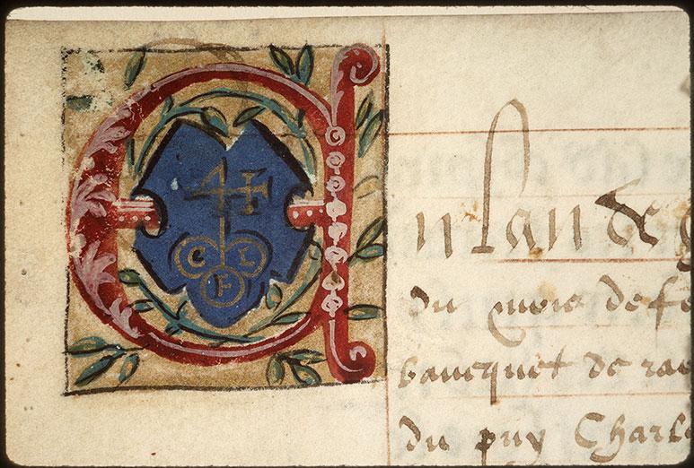 Registre des maîtres de la confrérie Notre-Dame du Puy d'Amiens - Chiffre de Charles Le Fèvre_0