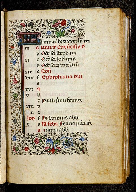 Heures à l'usage de Rome - Page décorée_0