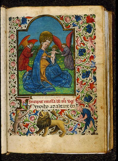 Heures à l'usage de Rome - Vierge à l'Enfant et anges_0