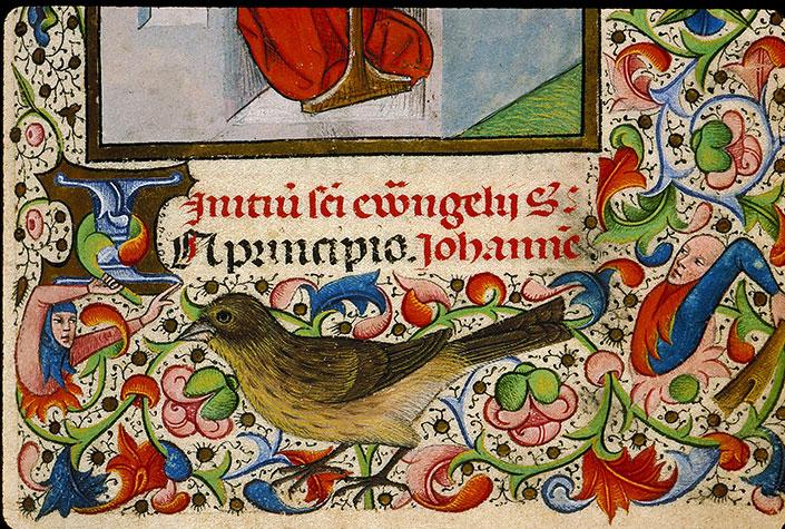 Heures à l'usage de Rome - Hybrides anthropomorphes attaquant un oiseau_0