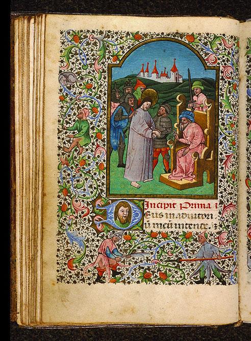 Heures à l'usage de Rome - Jésus devant Pilate_0