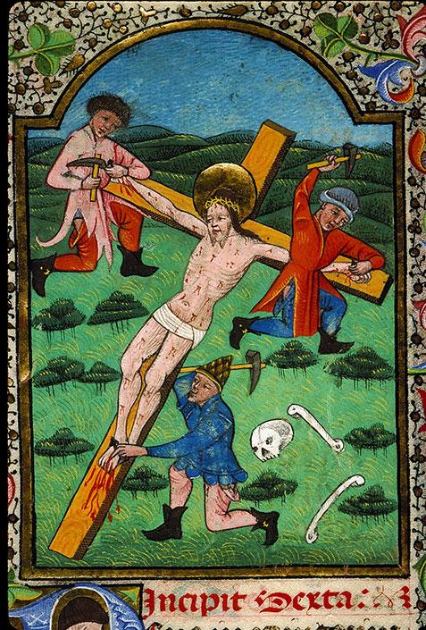 Heures à l'usage de Rome - Jésus cloué sur la croix_0