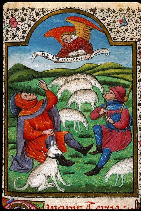 Heures à l'usage de Rome - Annonce aux bergers_0