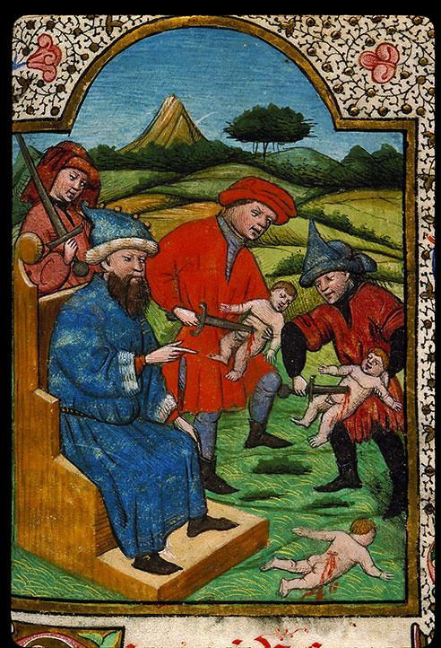 Heures à l'usage de Rome - Hérode ordonnant le massacre des Innocents_0