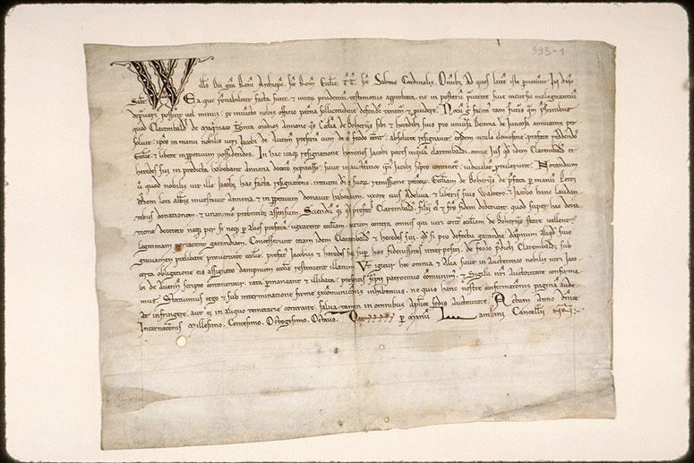 Confirmation par Guillaume, archevêque de Reims, d'une donation - Initiale filigranée_0