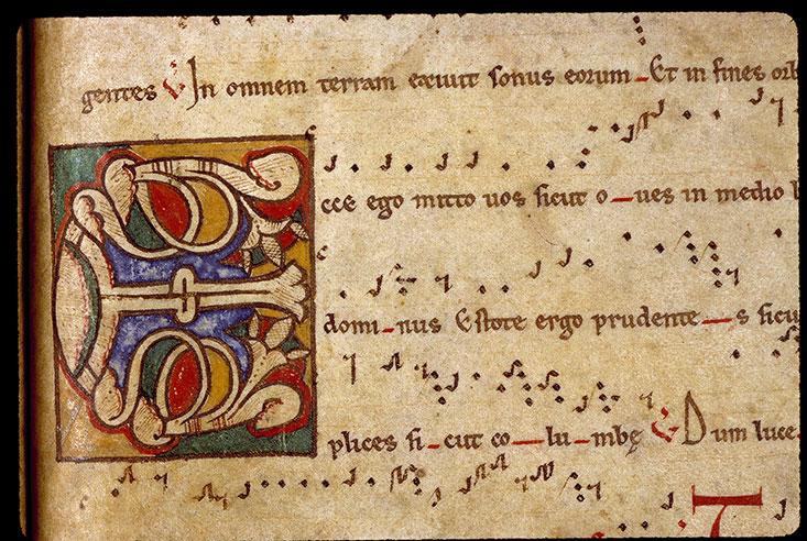 Antiphonaire cistercien - Initiale ornée_0