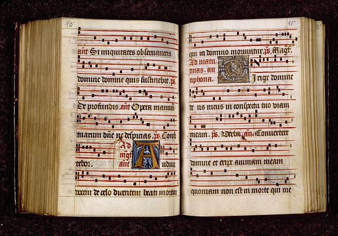 Antiphonaire dominicain - Initiales ornée et champie_0