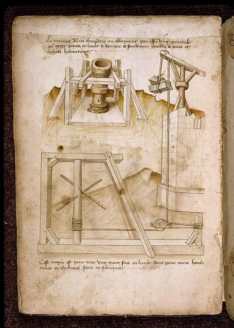 (Figures d'ouvrages de génie civil et militaire) - Ouvrage en bois pour asseoir une pièce d'artillerie courte_0