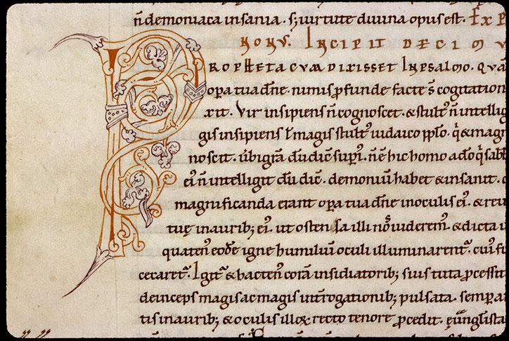 Comment. in Evangelium Johannis - Initiale ornée_0