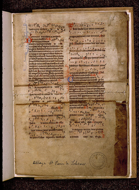 Bréviaire à l'usage de Sarum (fragment) - Initiales filigranées_0