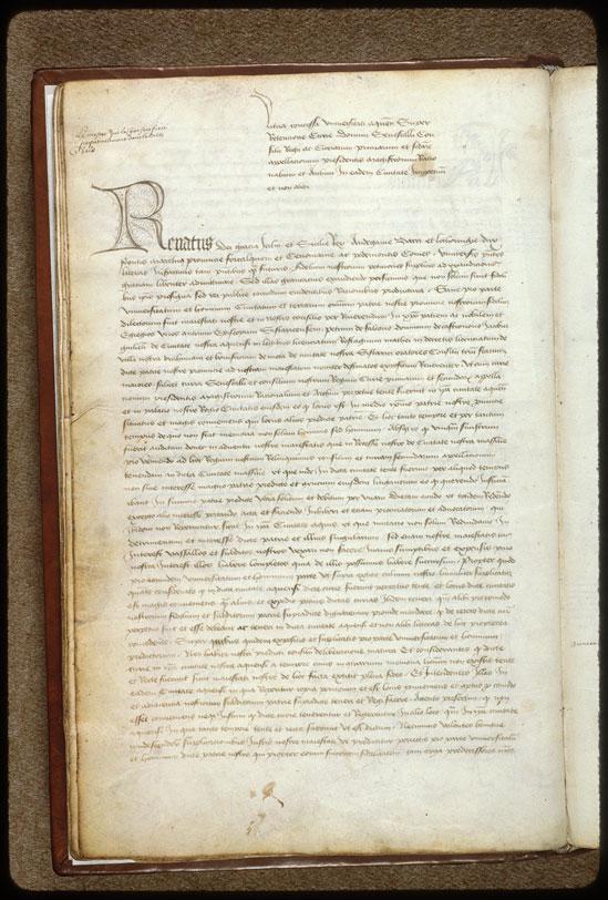 Cartulaire municipal d'Aix-en-Provence, Livre rouge (1) - Initiale filigranée_0