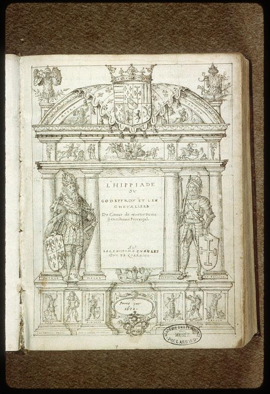 Hippiade (L') - Page décorée, avec armes de Charles III de Lorraine_0