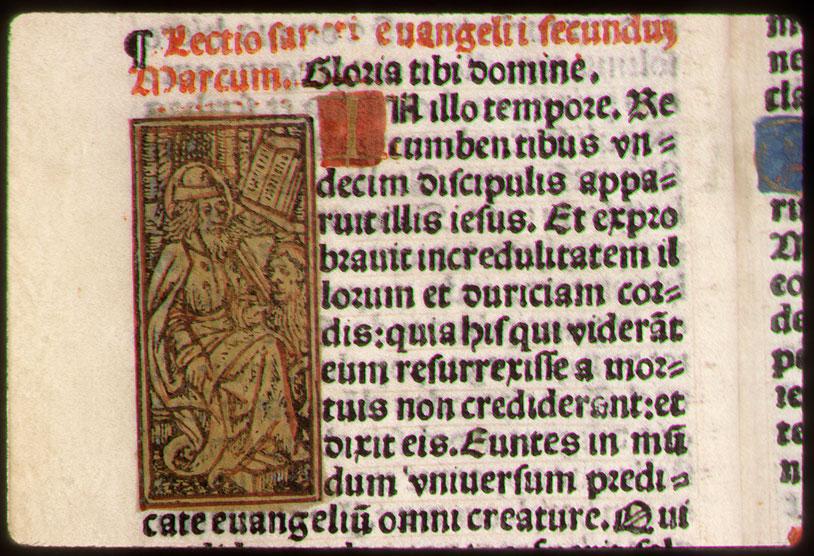 Heures - Saint Marc écrivant et son symbole_0