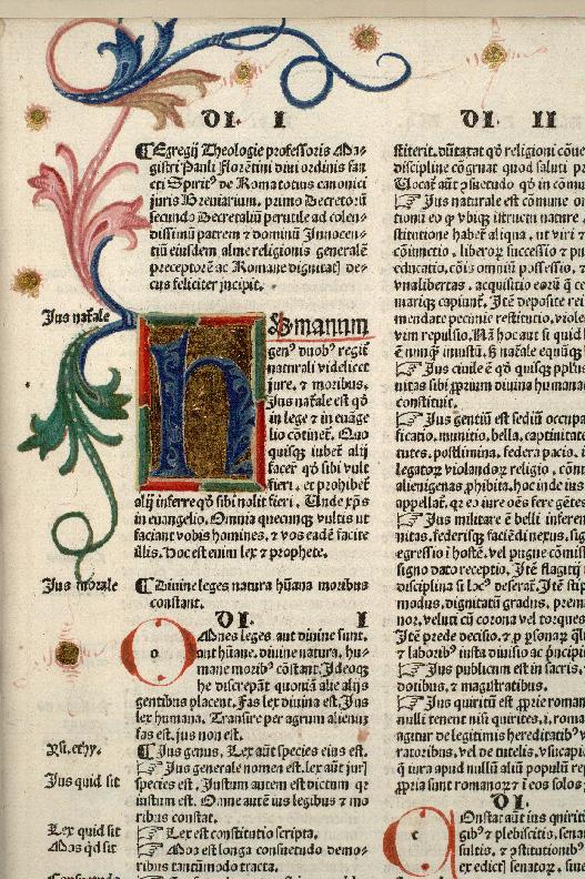 Breviarium totius juris canonici - Initiale ornée_0