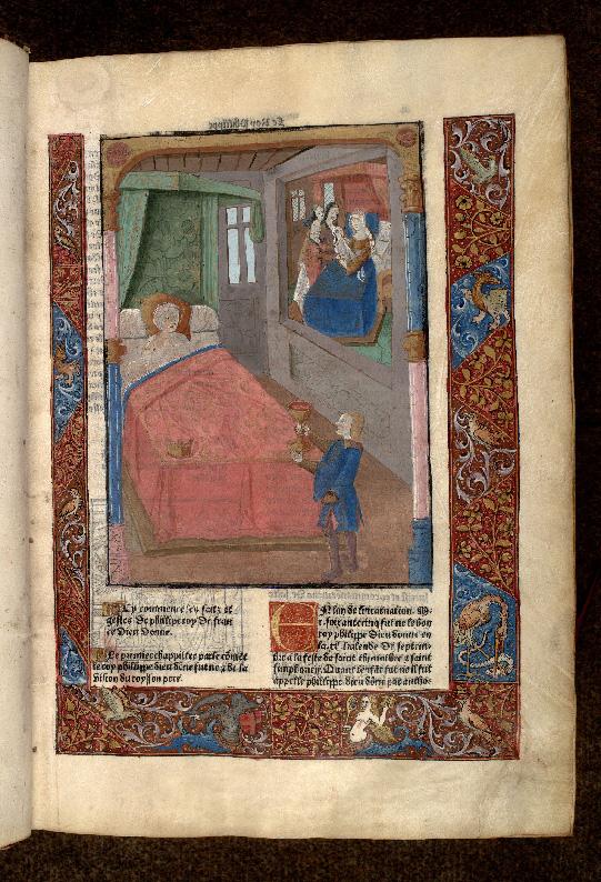 Grandes chroniques de France - Songe de Louis VII le Jeune avant la naissance de Philippe Auguste_0