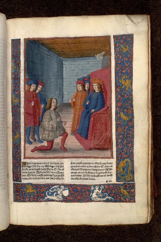 Grandes chroniques de France - Hommage d'Edouard Ier d'Angleterre à Philippe IV le Bel_0