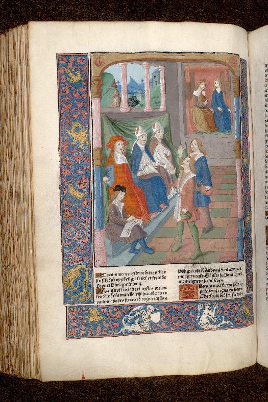 Grandes chroniques de France - Annulation du mariage de Charles IV le Bel et de Blanche de Bourgogne_0