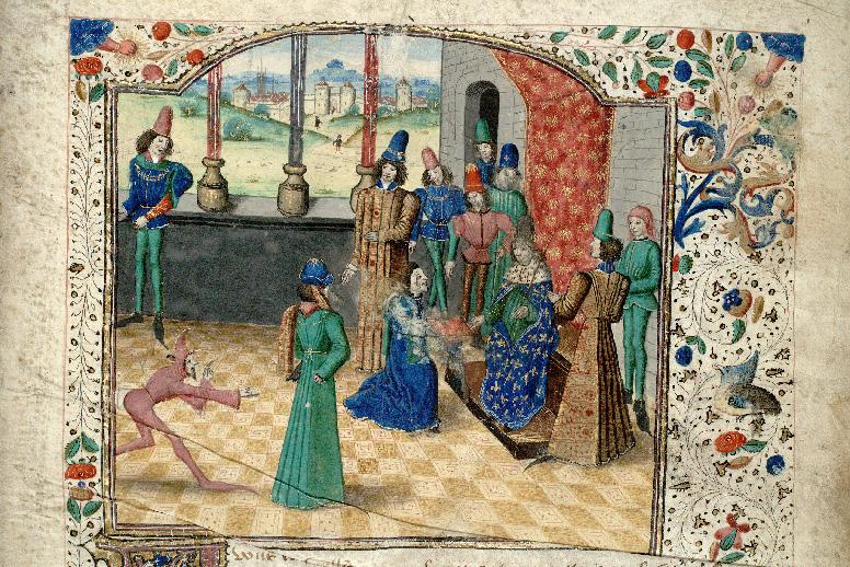 Cité de Dieu - Raoul de Presles remettant son ouvrage à Charles V_0