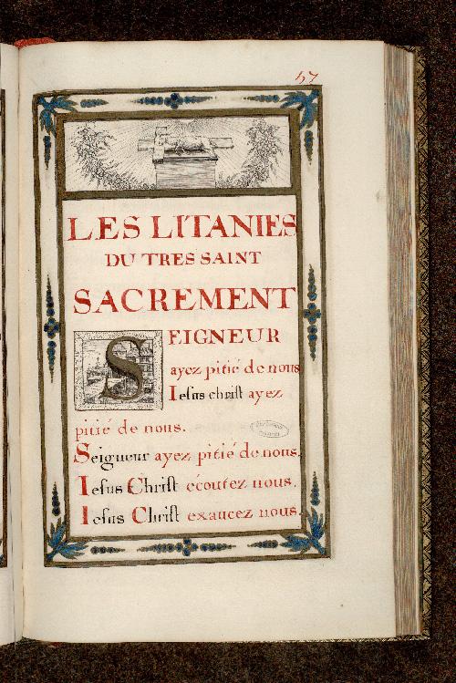 Petit office de la messe et autres prières - Architecture_0