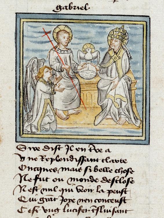 Pèlerinage de Jésus-Christ - Ange Gabriel s'adressant à la Trinité_0