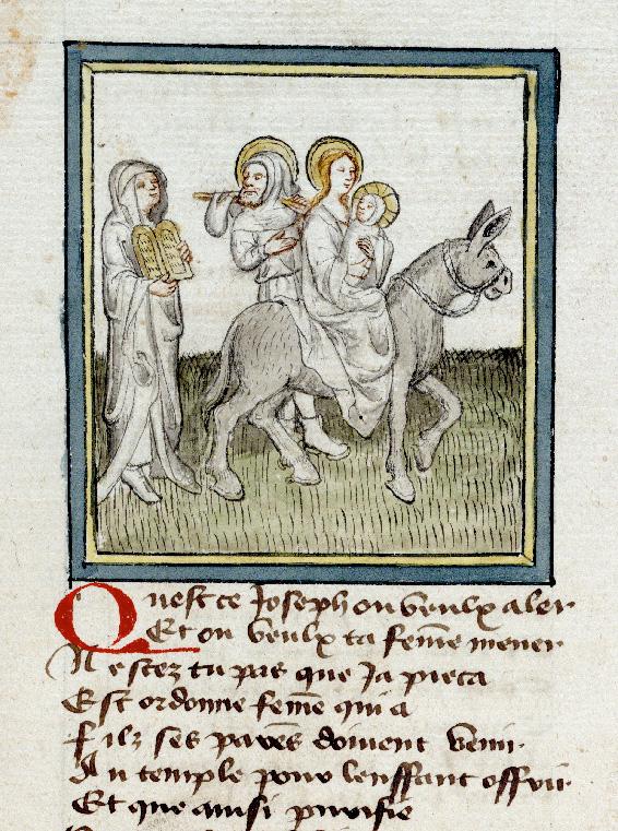 Pèlerinage de Jésus-Christ - Ancienne Loi demandant que la Vierge se purifie avant de fuir_0