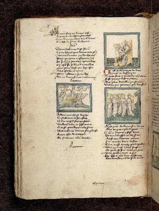 Pèlerinage de Jésus-Christ - Guillaume de Digulleville écrivant_0