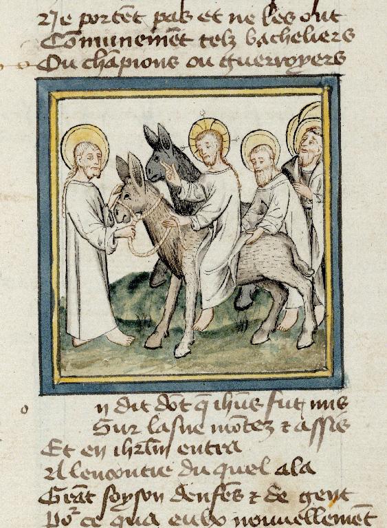 Pèlerinage de Jésus-Christ - Jésus monté sur l'âne pour entrer à Jérusalem_0