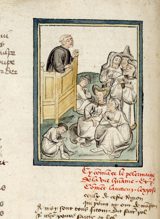 Pèlerinage de vie humaine - Guillaume de Digulleville s'adressant à une foule_0
