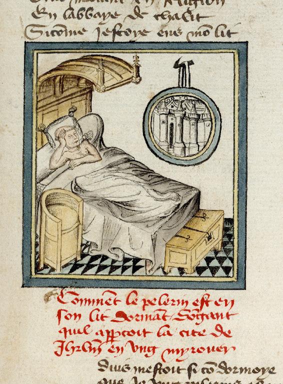 Pèlerinage de vie humaine - Songe de Guillaume de Digulleville : la Jérusalem céleste_0