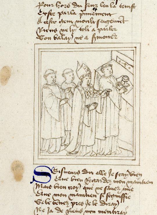 Pèlerinage de vie humaine - Moïse expliquant le mystère de la transsubstantiation aux novices_0