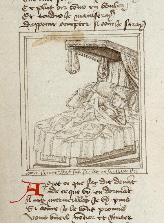 Pèlerinage de vie humaine - Guillaume de Digulleville endormi_0