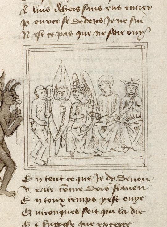 Pèlerinage de l'âme - Ame du pèlerin et Satan devant saint Michel (L')_0